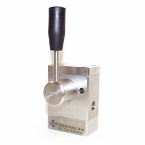 seat hydraulic directional control valve / lever-operated / 2/2-way / compact