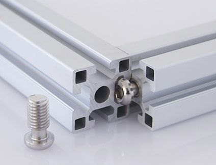 button head screw / hex socket / joining / for aluminum profile