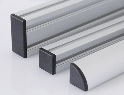 non-threaded end cap / rectangular / square / ABS