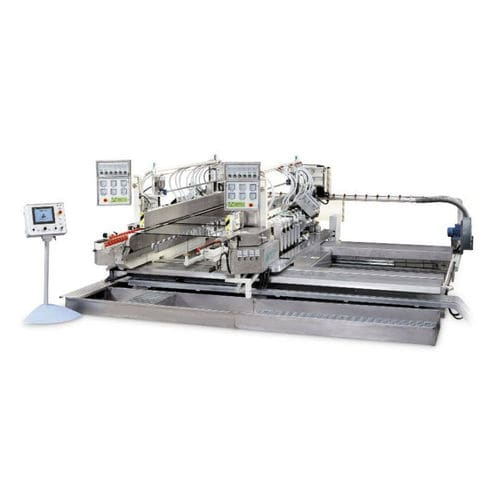 precision grinding machine / glass / automatic / straight edges