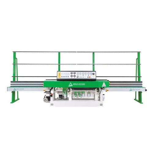 glass edging machine / electronic / straight-line / variable-angle