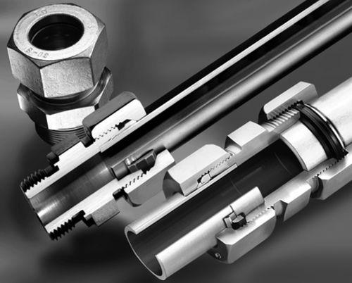 cutting ring fitting / straight / hydraulic / steel