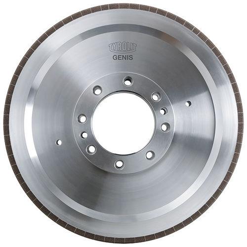 surface treatment wheel / cylindrical / vitrified-bonded CBN / for crankshafts