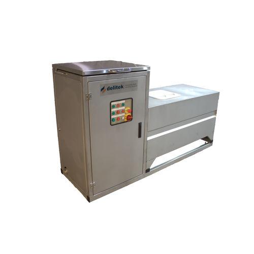 wet crusher-compactor / vertical / food / waste
