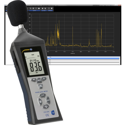 Integrating sound level meter / with analysis function / class 2 / digital PCE-322A incl. LEQ Software PCE Instruments