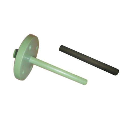 flange thermowell / PVDF / ceramic / PTFE