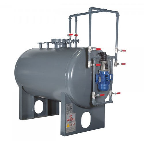 storage tank / oil / cylindrical / horizontal