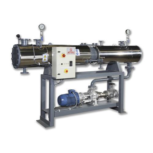 tubular heat exchanger / liquid/liquid / for thermal fluid boilers