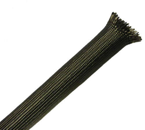 braided sleeve / thermal protection / for cables / basalt fiber
