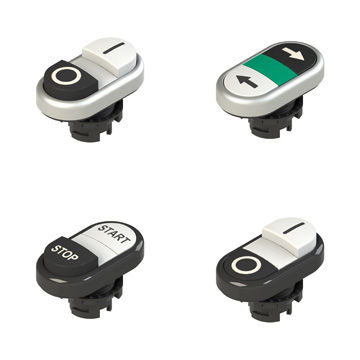 Double push-button switch / flush-mounted / IP67 / IP69K E2 PD Series Pizzato Elettrica