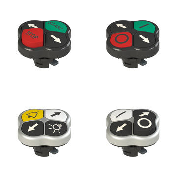 touch push-button switch / multipole / flush-mounted / IP67