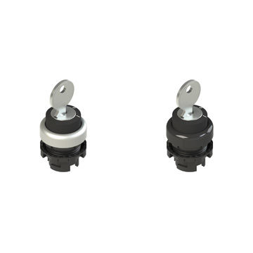 key lock push-button switch / selector knob / multipole / IP67