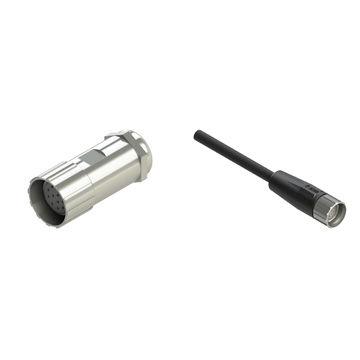 female connector / crimp / M23 / multipole