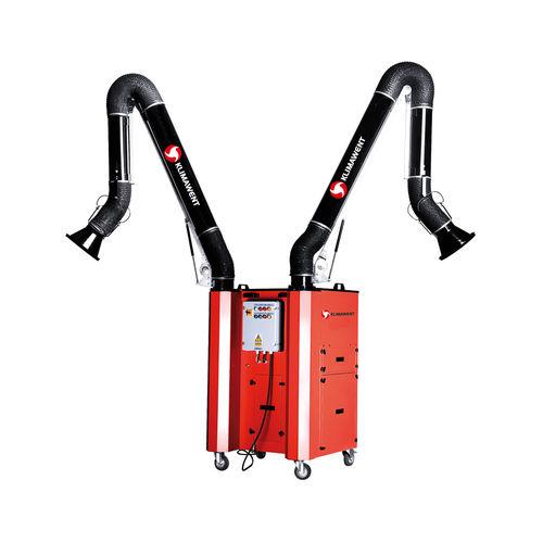mobile fume extractor / wall-mounted / welding / cartridge