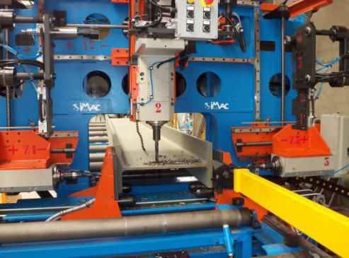 CNC drilling line / beam