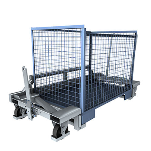 Handling cart / transport / zinc-plated steel / wire mesh platform GB1 518-1000 LKE GmbH - Experts in Material Handling