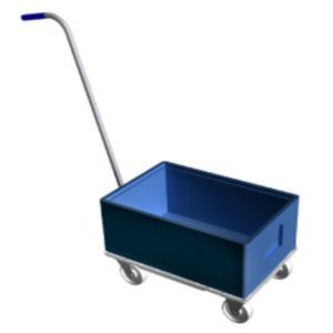 Handling cart / transport / aluminum / for storage containers  513-1000 LKE GmbH - Experts in Material Handling