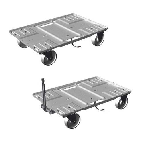 Handling cart / transport / for storage containers / aluminum  513-1000 LKE GmbH - Experts in Material Handling
