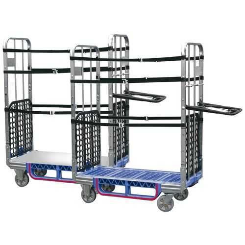 Transport cart / mail sorting and distribution / steel / plastic Ecoflex Standard 190-0000 LKE GmbH - Experts in Material Handling
