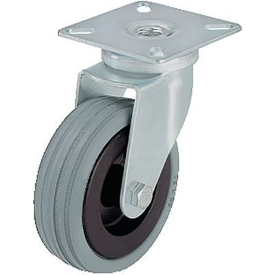 swivel caster / base plate / with pneumatic tire / with tread guards