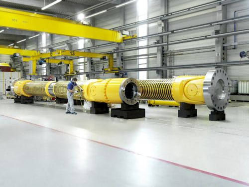 steel shaft / universal joint / flexible / drive