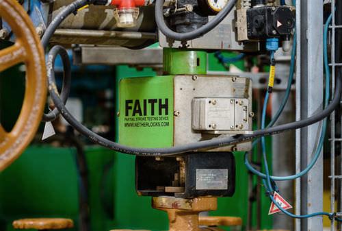 Partial run test device / for valves FAITH Netherlocks
