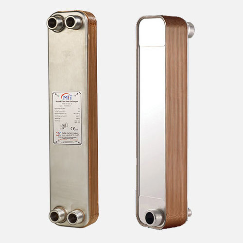 brazed plate heat exchanger / liquid/liquid / gas/liquid / copper