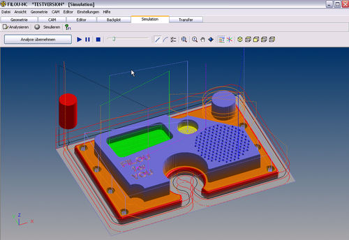 3D simulation software Filou-NC CNC-STEP / Hylewicz CNC-Technik
