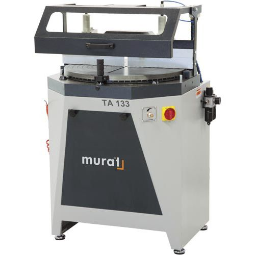 miter sawing machine / for PVC / pneumatic