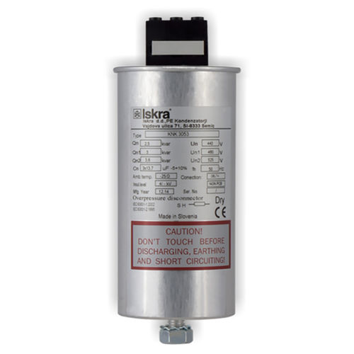 power factor correction capacitor / film / encapsulated / low-voltage