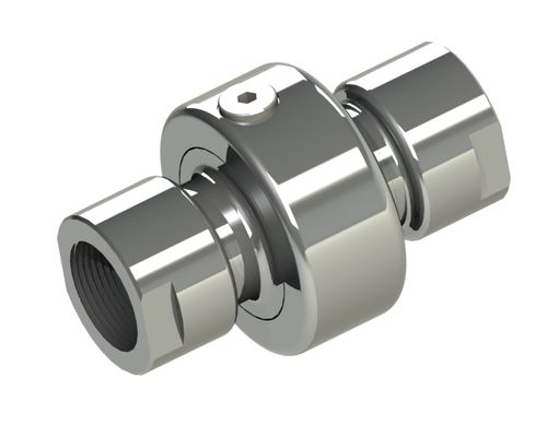 screw-in fitting / straight / hydraulic / swivel