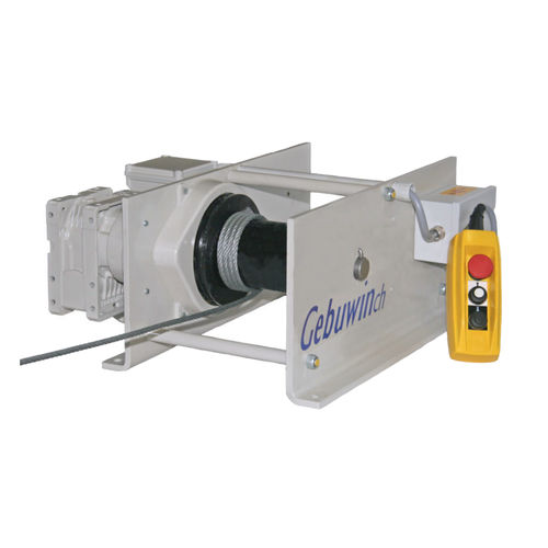 Electric winch / hoisting / compact / worm gear EW125 Gebuwin