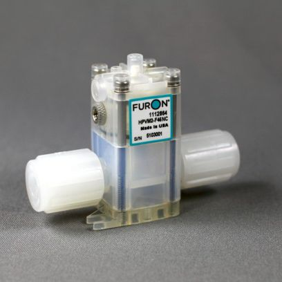 diaphragm valve / pneumatically-operated / for chemical products / PTFE