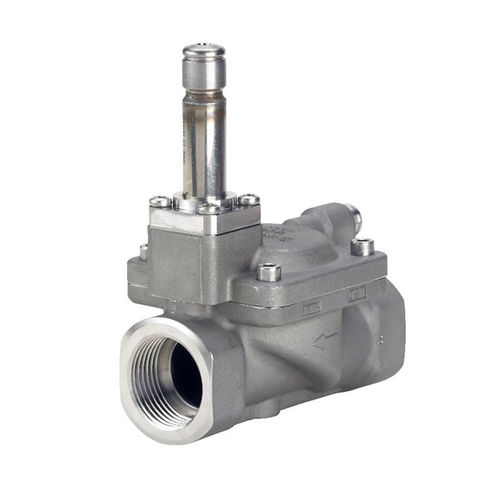 pilot-operated solenoid valve / 2/2-way / NC / stainless steel