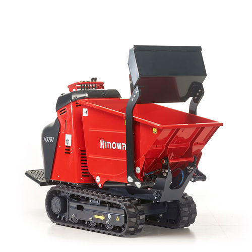 Tracked mini dumper / diesel / gasoline / front-loading HS701 HINOWA SPA