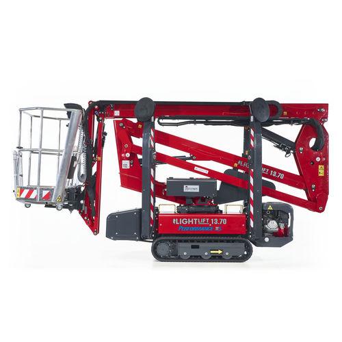crawler spider lift / indoor/outdoor / articulated / compact