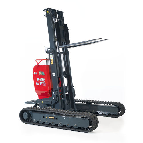 electro-hydraulic forklift / stand-on / pallet / crawler