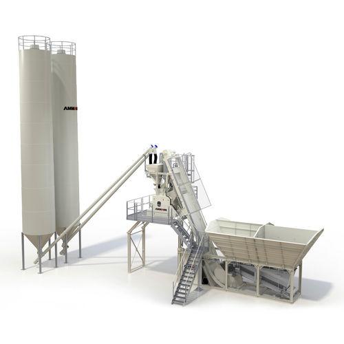 mobile concrete batching plant / compact / single-shaft