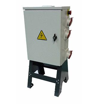 secondary distribution cabinet / free-standing / hinged door / steel