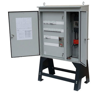 electrical distribution cabinet / free-standing / double-door / steel
