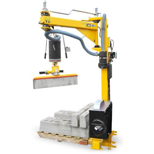 pneumatic curbstone laying clamp