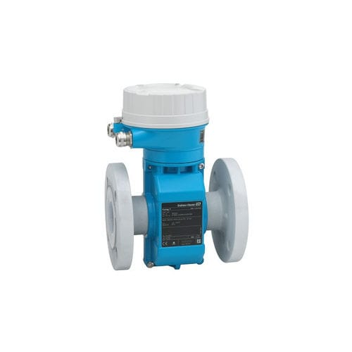 electromagnetic flow meter / for liquids / for corrosive fluids / ultra-compact
