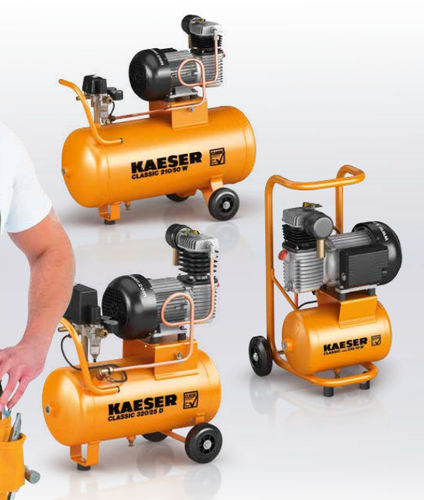 air compressor / mobile / electrically-powered / piston