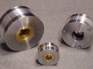 slip-on conveyor roller / steel / magnetic