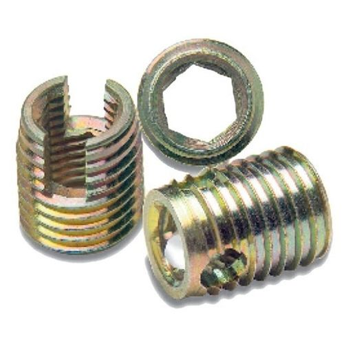 threaded insert / self-tapping / metal / flat