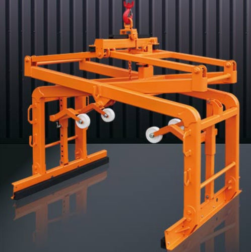 concrete slab lifting clamp / for building materials / vertical / automatic