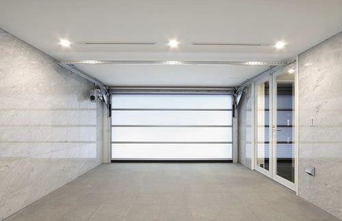 sectional door / fiberglass / exterior / industrial