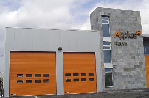 sectional door / industrial / exterior / safety