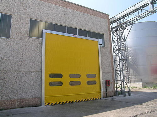 fold-up door / exterior / industrial / high-speed