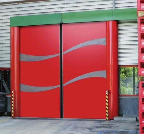 horizontal roll-up door / PVC / hangar / industrial